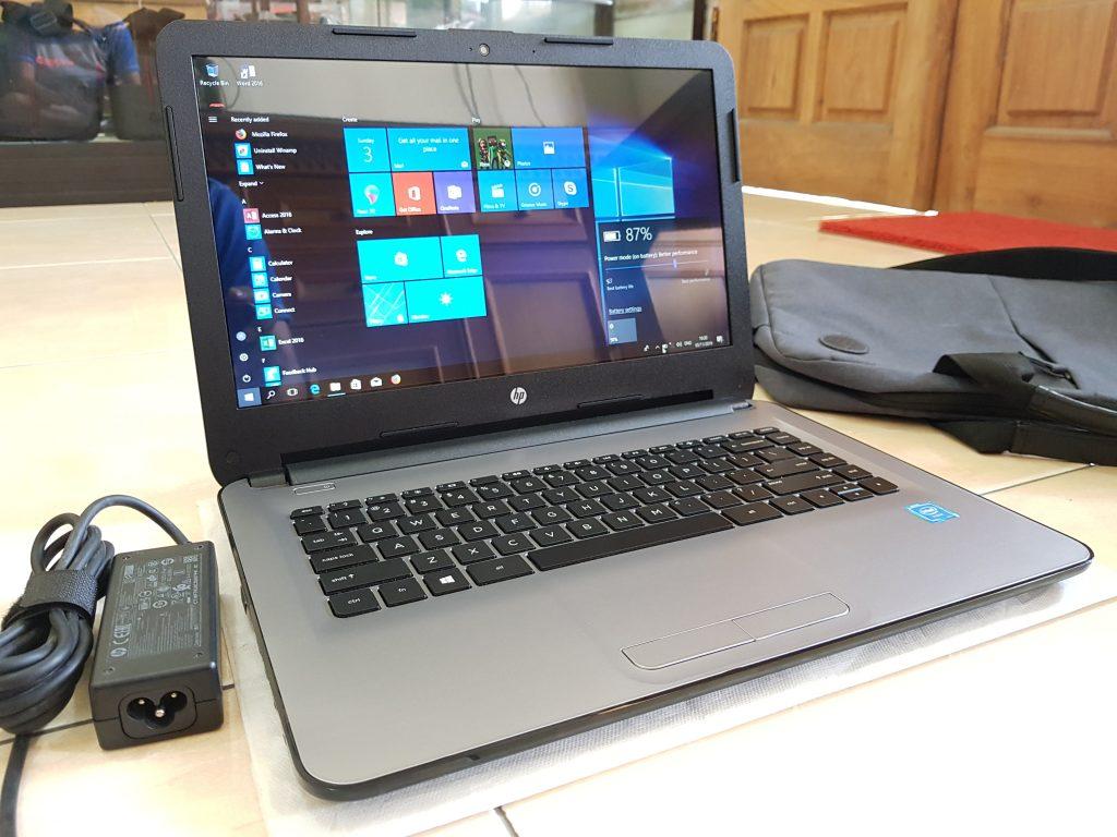 Laptop HP 14-AMO13TU Intel CPU N3060 RAM 4GB Kencengg ...